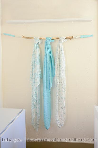 azure bamboo swaddle blanket