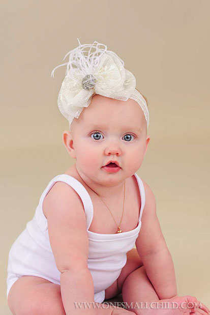 Lace Bow Baby Headbands | One Small Child