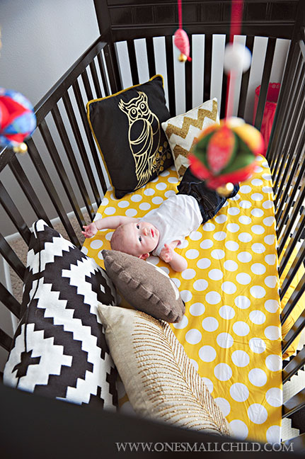 Adorable Black Grey Gold Baby Boys' Rooms | Kingston's Nursery at One Small Child