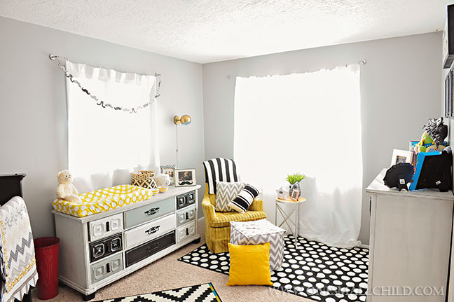 Black Grey Gold Baby's Room | Kingston's Nursery at One Small Child