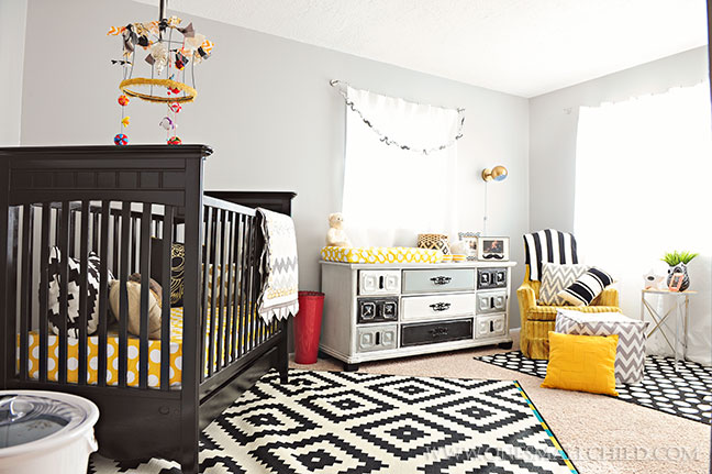 Black Grey Gold Baby Boy's Room | Kingston's Nursery at One Small Child