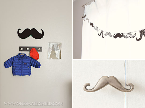 Mustache Baby's Room | Kingston's Nursery at One Small Child
