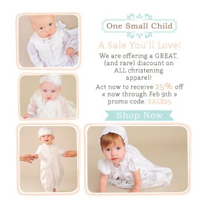 Sale on Christening Gowns, Christening Outfits at One Small Child