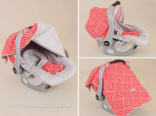 Jayden-Red-Car-Seat-Carrier-Cover-For-Baby-Boys - One Small Child