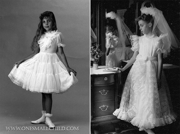 First Communion Dresses | One Small Child Throwback Thursday