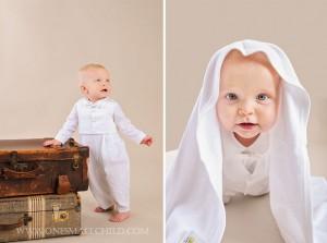 Alexander Boy's Baptism Romper   One Small Child