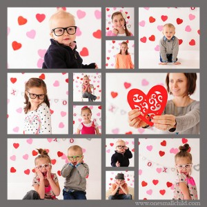 Fun valentine photo shoot! www.onesmallchild.com