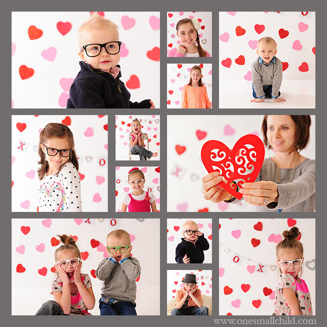 Fun valentine photo shoot! www.onesmallchild.com