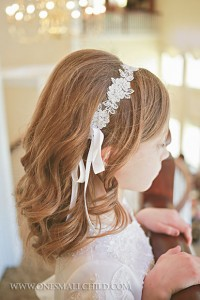 Beaded Lace First Communion Headwrap | Hair Accessories for Girls