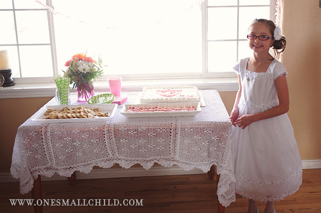 Meg's LDS Baptism | Buffet Table