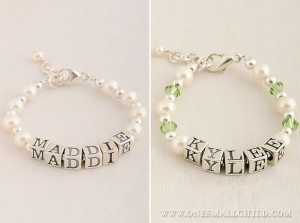 Baby Name Bracelets | One Small Child Jewelry