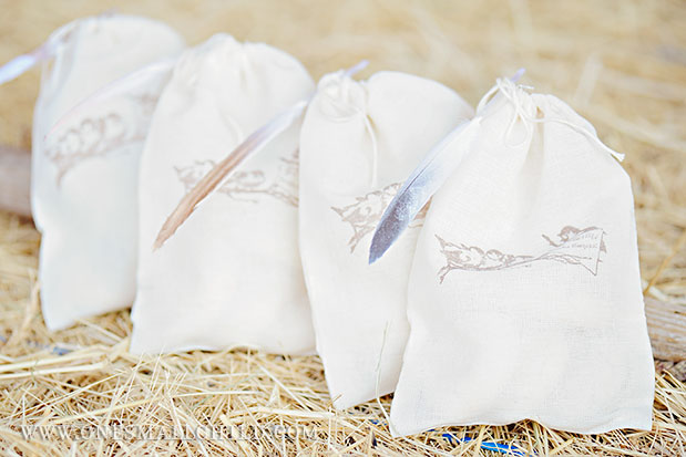 Bird Favor Bags | Baptism Party Ideas