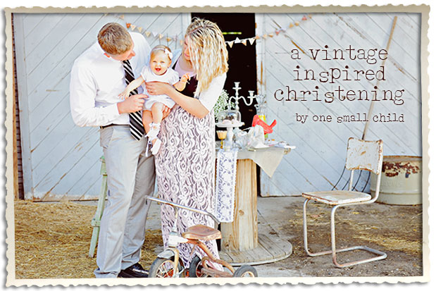 Vintage Inspired Christening Party - One Small Child