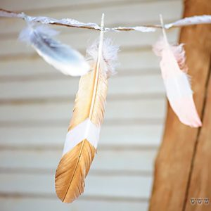 Painted Feather Tutorial - One Small Child