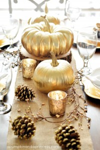 Fall Thanksgiving Tablescape - One Small Child