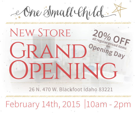 Grand Opening 20% Off - Expired - One Small Child