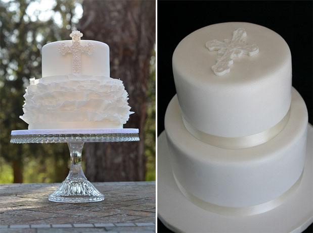 White Christening Cakes