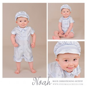 Noah Blue Boys Christening Outfits - One Small Child