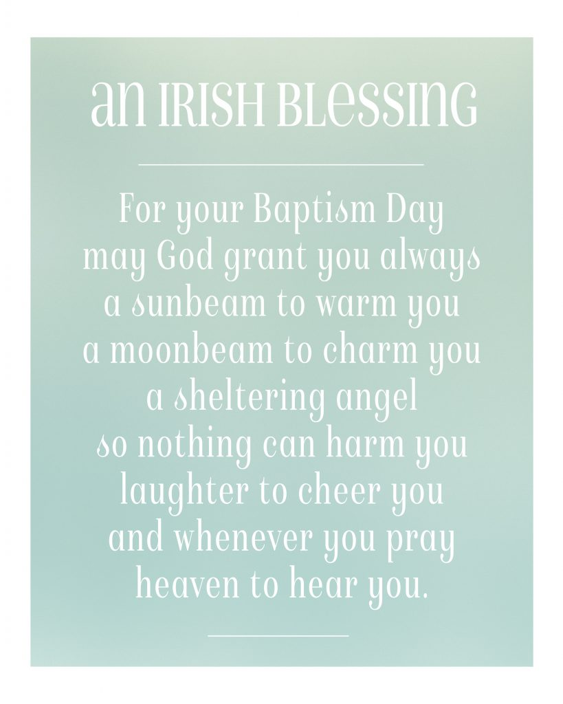 Irish Blessing Picture - One Small Child