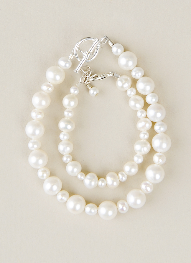 Mother Child Pearl Bracelet 3433 - One Small Child