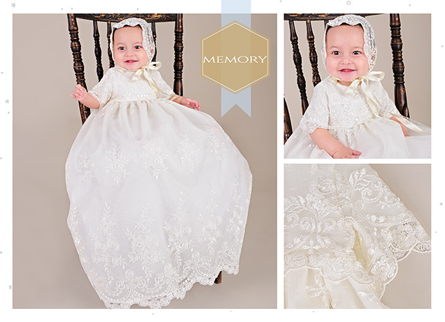 Memory Vintage Style Christening Gown