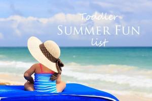 Summer Fun - One Small Child