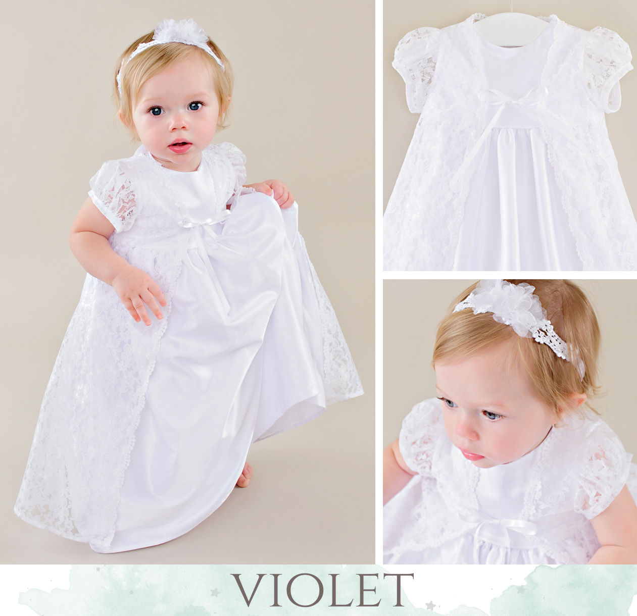 Violet LDS Blessing Dress