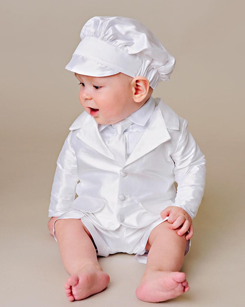 Kingston Silk Christening Suit - One Small Child