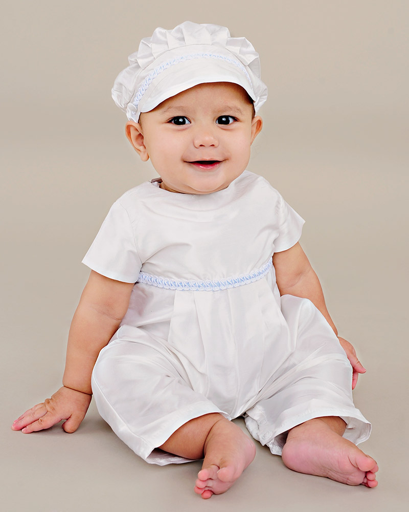 Francis Silk Christening Romper - One Small Child