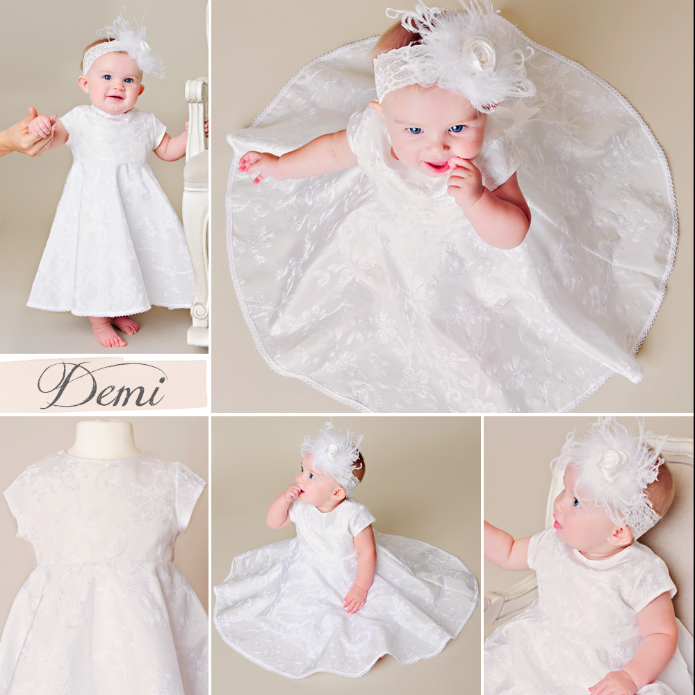 Demi Circle Skirt Christening Dress