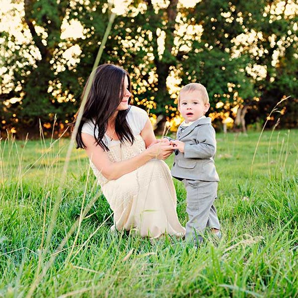Derek Gray Suit with Mom - One Small Child