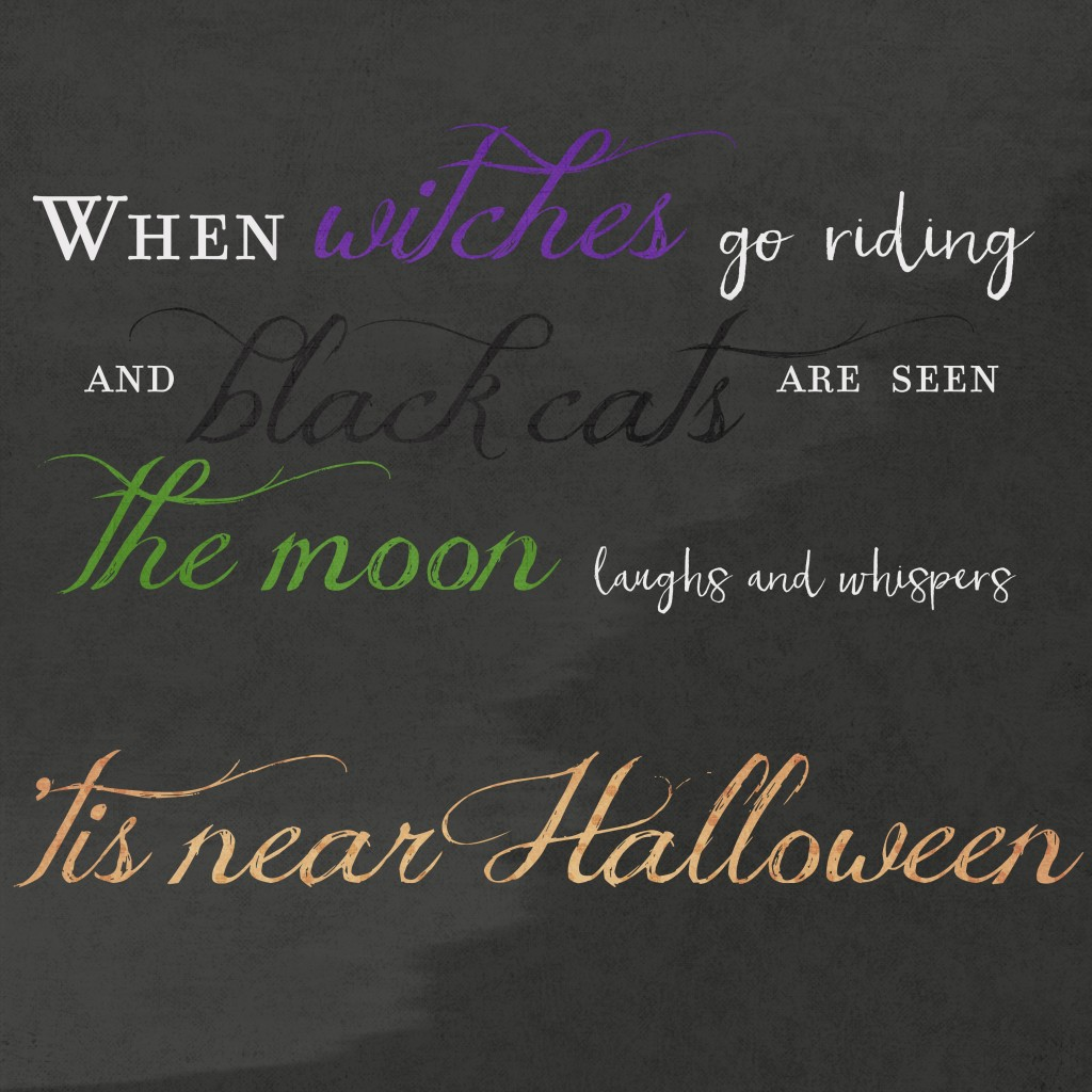 Halloween Quote Blog - One Small Child