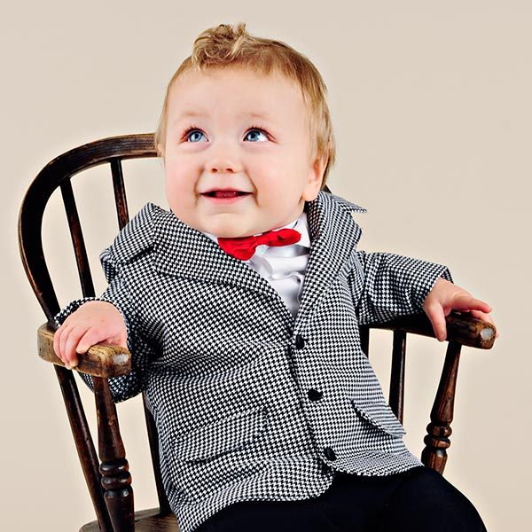 Ludlow Baby Boy Houndstooth Suit - One Small Child