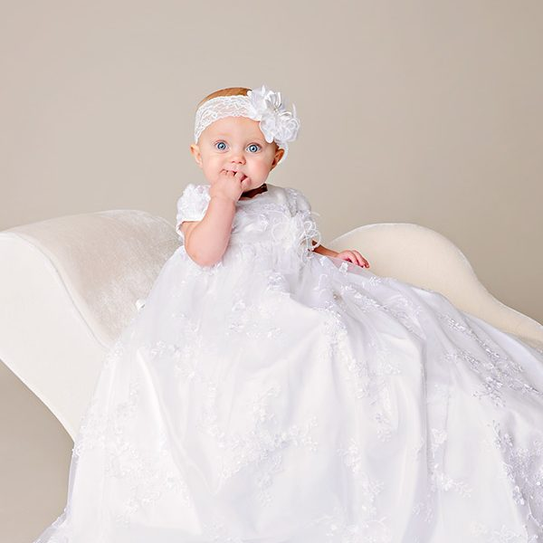 Preslee Christening Gown - One Small Child