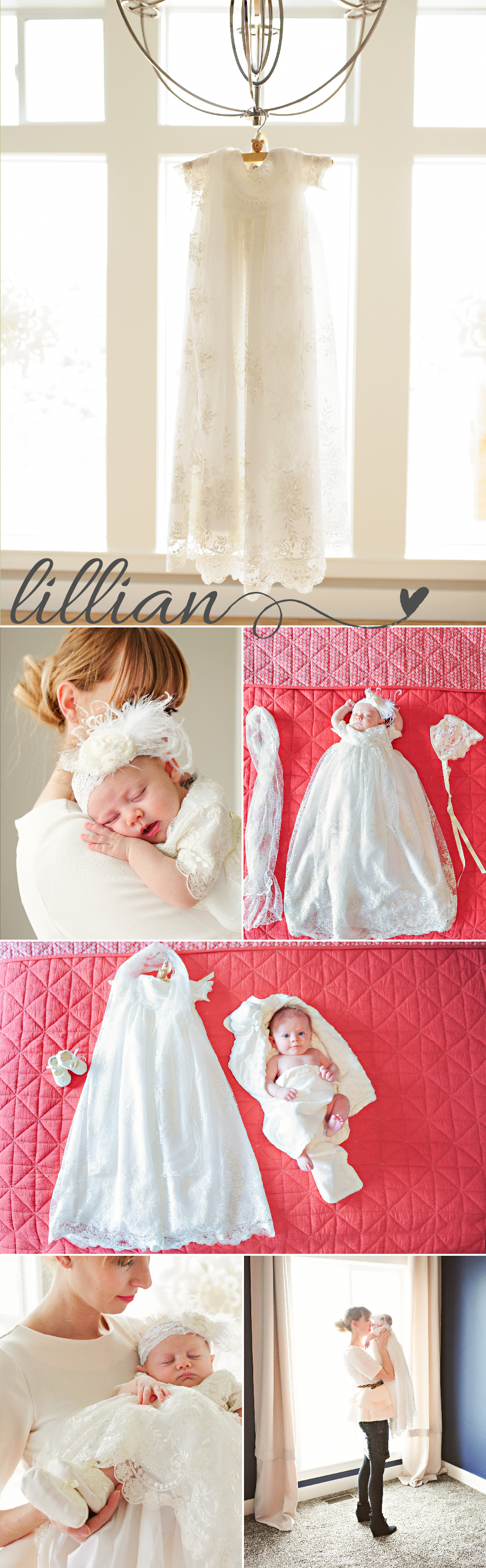 Heirloom Lace Christening Gown by One Small Child