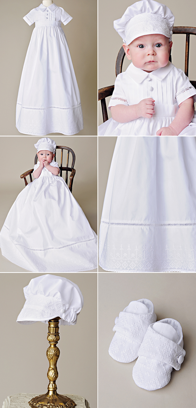 Sean Cotton Boy Baptism Gown by One Small Child