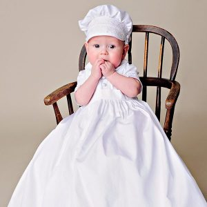 Sean Cross Stitched Christening Gown - One Small Child