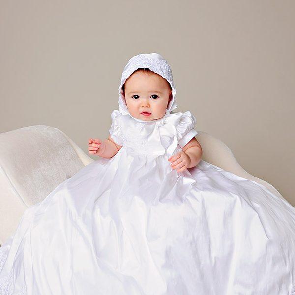 Esther Silk Christening Dress - One Small Child