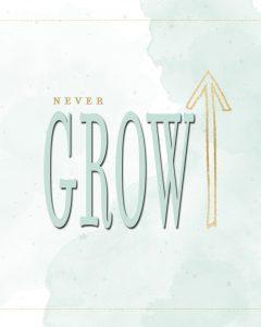 Never Grow up Printable - One Small Child