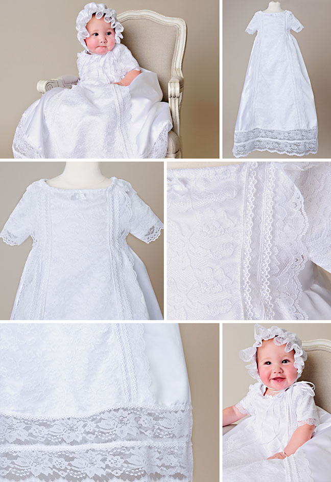 Camilla Lace Christening Gown by One Small Child