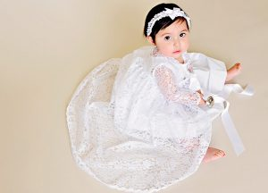 Kylie Lace Christening Jacket - One Small Child
