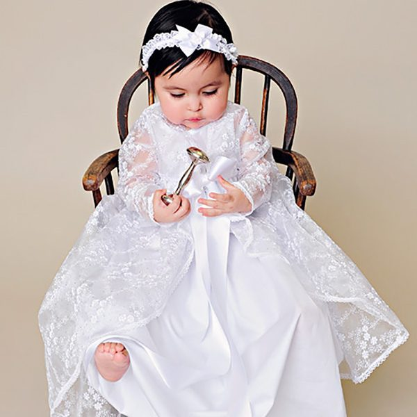 Mia Lace Christening Jacket