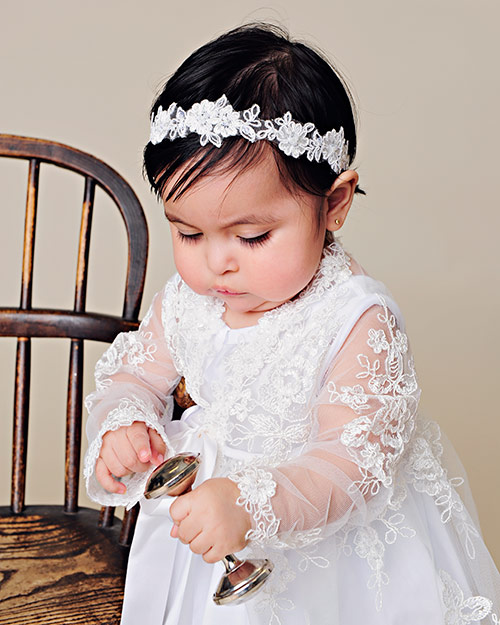 Sadie Lace Christening Jacket - One Small Child