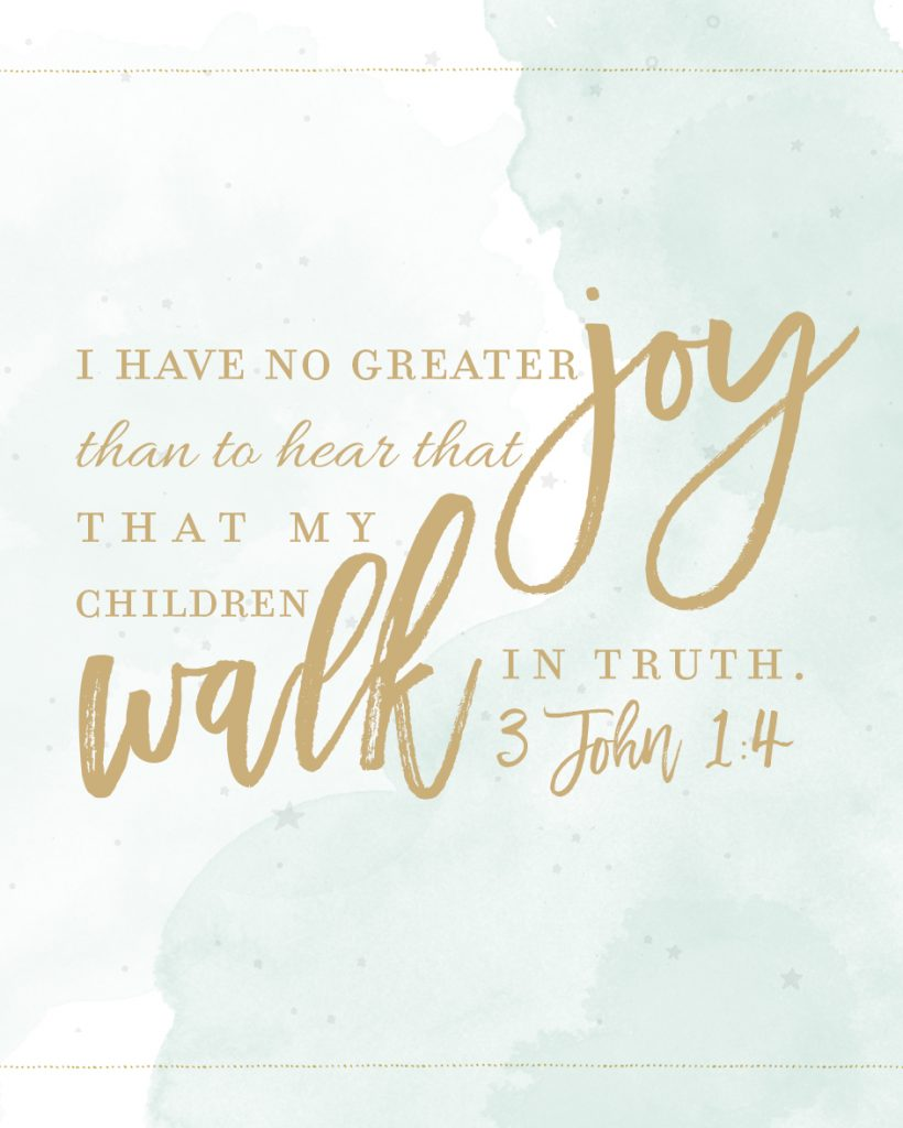 3 John 1:4 Quote - One Small Child