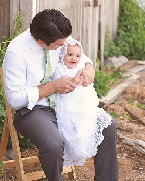 Lillian Lace Christening Gown - One Small Child