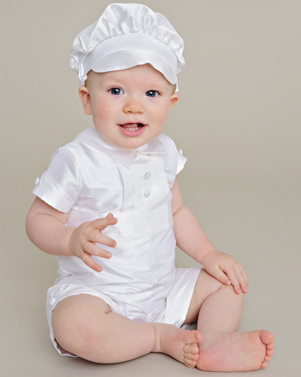 Charles Silk Christening Outfit - One Small Child