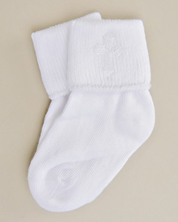 Cross Embroidered Socks - One Small Child