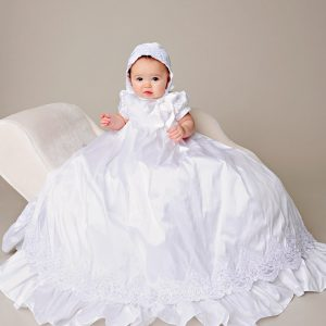 Esther Silk Christening Gown