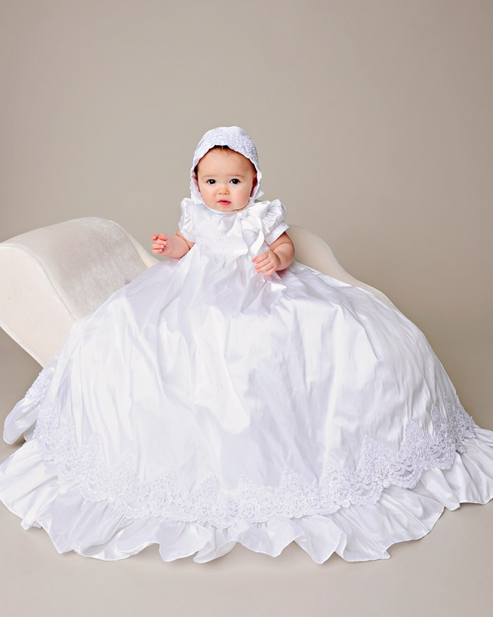 Baptismal Gown Preservation: Esther Silk Christening Gown