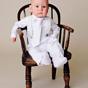 Payton Suspender Christening Outfit - One Small Child